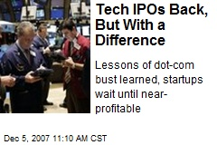 Tech IPOs Back, But With a Difference