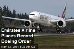 Emirates Airline Makes Record Boeing Order