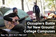 Occupy Movement Pitches Camp on College Campuses