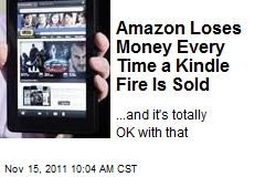 Amazon Loses Money Every Time a Kindle Fire Is Sold