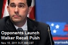 Opponents Launch Walker Recall Push