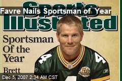 Favre Nails Sportsman of Year