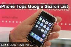 iPhone Tops Google Search List