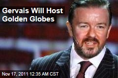 Ricky Gervais to Host 2012 Golden Globes