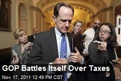 GOP Battles Itself Over Taxes