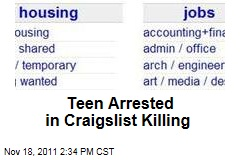 Teen Arrested In Craigslist Killing