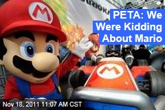 PETA: We Were Kidding About Mario's Tanooki Suit