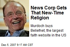 News Corp Gets That New-Time Religion