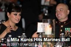 Mila Kunis Attends Marines Ball With Scott Moore
