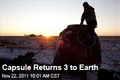Soyuz Capsule Lands, Returns Michael Fossum, Sergei Volkoy, Satoshi Furukawa to Earth