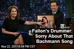 Jimmy Fallon Drummer Questlove Says He Meant No Offense by Playing 'Lyin' Ass Bitch' for Michele Bachmann's Entrance