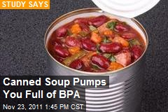 Canned Soup Pumps You Full of BPA