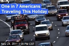 One in 7 Americans Traveling This Holiday