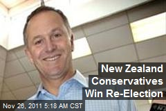New Zealand Conservatives Win Re-Election
