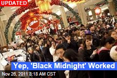 'Black Thursday,' 'Black Midnight' Worked: Retail Analysts Say Starting Black Friday Earlier Could Become Norm