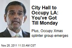 Los Angeles Mayor Antonio Villaraigosa Plans to Evict Occupy LA