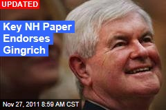 New Hampshire Newspaper Union Leader Endorses Newt Gingrich