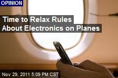 Time to Relax Rules About Electronics on Planes