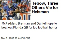 Tebow, Three Others Vie for Heisman