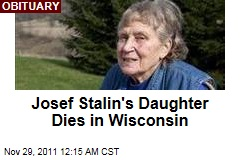 Josef Stalin's Daughter Lana Peters Dies in Wisconsin