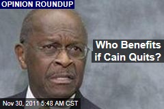 If Herman Cain Drops Out of Republican Race, Who Benefits?
