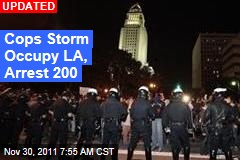 Cops Storm Occupy LA Camp