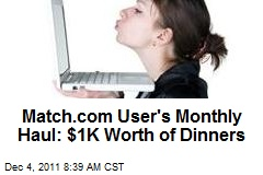 Match.com User's Monthly Haul: $1K Worth of Dinners