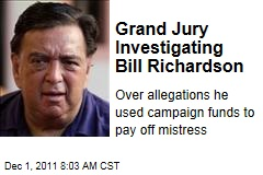 Bill Richardson Sex Scandal: Grand Jury Investigates Whether Candidate Paid Off Mistress With Campaign Funds