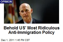 Behold US' Most Ridiculous Anti-Immigration Policy
