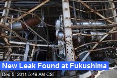 New Leak Found at Fukushima