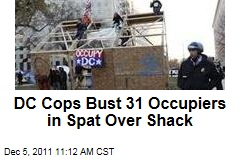 Occupy DC Protesters Plucked Off Roof of Newly-Built Shack