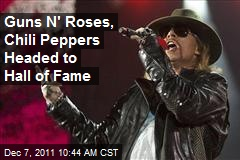 Guns N' Roses, Chili Peppers Headed to Hall of Fame