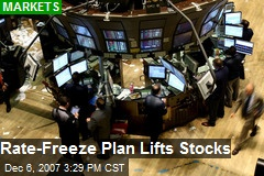 Rate-Freeze Plan Lifts Stocks