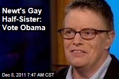 Candace Gingrich-Jones, Newt Gingrich's Lesbian Half-Sister: Vote Obama