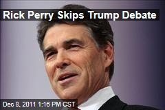 Rick Perry Says He Will Skip Donald Trump Debate