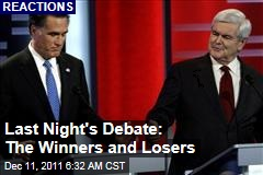 Reactions: Newt Gingrich Won Last Night's Debate, Mitt Romney Lost