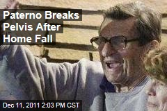 Former Penn State Coach Joe Paterno Breaks Pelvis in Home Fall