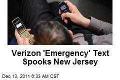 Verizon 'Civil Emergency' Message Spooks Jersey