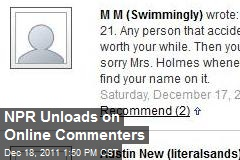 NPR Unloads on Online Commenters