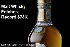 Malt Whisky Fetches Record $73K