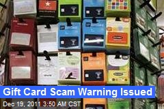 Gift Card Scam Warning Issued