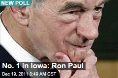 Ron Paul Takes Lead in Iowa Poll