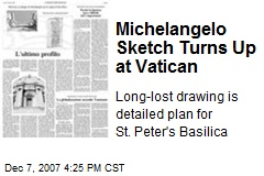Michelangelo Sketch Turns Up at Vatican