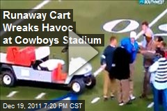 Runaway Cart Wreaks Havoc at Cowboys Stadium