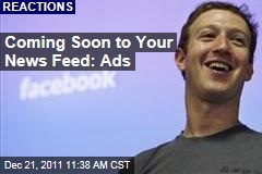 Ads Coming to Your Facebook News Feed