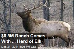 $6.5M Ranch Comes With ... Herd of Elk