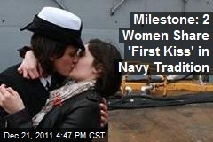 Milestone: 2 Women Share 'First Kiss' in Navy Tradition