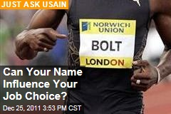 Usain Bolt, William Wordsworth: Can Your Name Influence Job Choice?