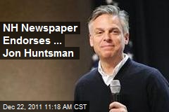 NH Newspaper Endorses ... Jon Huntsman