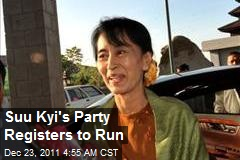 Suu Kyi's Party Registers to Run